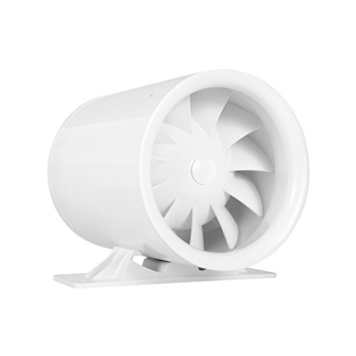"4"" Silent Inline Duct Booster Fan, 47 CFM, Intake Quiet Mixed Flow Energy Efficient Blower for Air Circulation in Ducting, Vents, Grow Tents"