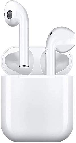 Wireless Earbuds, Bluetooth Headset Mini Size, Stereo in-Ear Wireless Headset with Microphone and Charging Box, Bluetooth Earphone with Noise Reduction