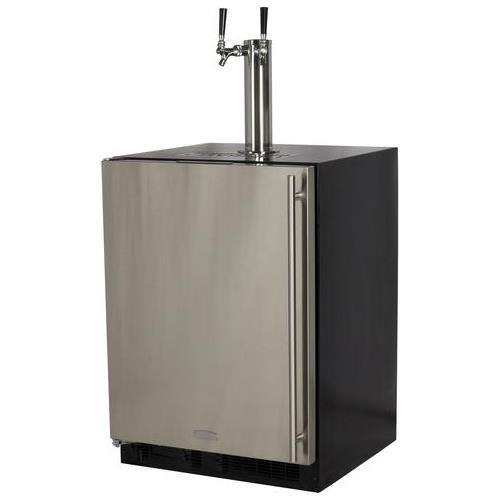 Marvel ML24BTS2LS Twin Tap Built-In Beer Dispenser with Left Side Hinge, 24