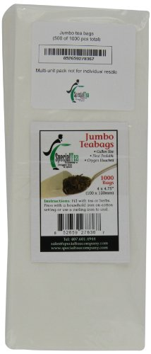 Special Tea Company 4 by 4.75-Inch 1000-Piece Empty Tea/Herb Bags, Jumbo by Special Tea Company