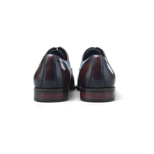 KTYXGKL Zapatos De Cuero Cabelludo Cuadrados Pequeños para Hombres Ropa Formal Zapatos De Cuero De Primera Capa con Cordones para Hombres De Cuero De ...