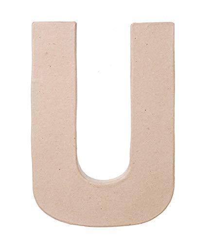 Darice 2862-U Paper Mache Letter 8Inx5.5In
