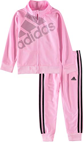 adidas Tricot Jacket Pant Set (Light Pink/Adi, 6) -