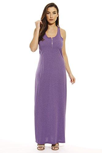 Just Love 401500-PRP-2X Summer Dresses/Maxi Dress with Front Zipper -