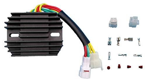 Tuzliufi Replace Voltage Regulator Rectifier Suzuki DL650A LT-A700X LTA700 LTA700X GSX1300BK BKA B-King GSXR1000 GSXR 600 GSXR1300 VL1500 C90 VL800 C50 C50T VL800T VL800Z Boulevard Cruiser New Z51