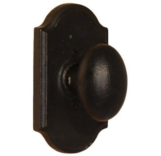 - Weslock 7105M-2 Black Durham Dummy Knob with Premiere Rosette