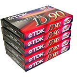 TDK Dynamic Performance D90 High Output IEC I / Type I - 5 Pack Audio Cassette Tapes from TDK
