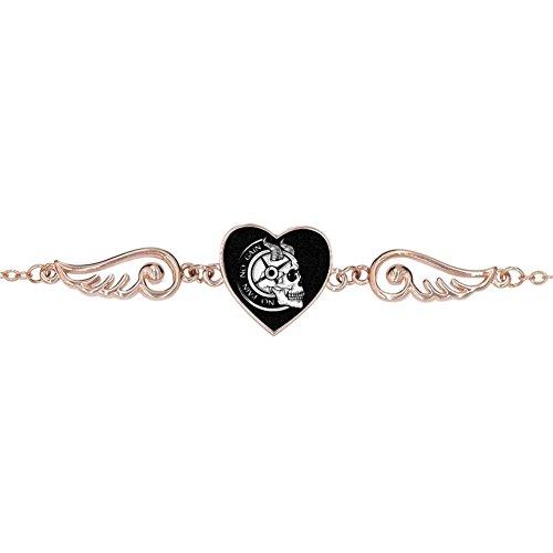 LUQeo No Pain No Gain Personalized Design Heart Charm Bracelet Jewelry