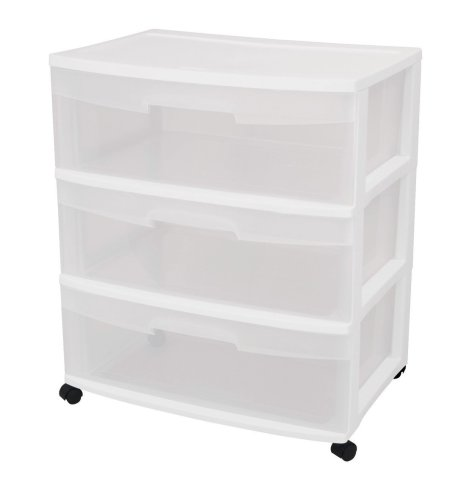 3 Drawer Wide Storage Plastic Cart Best Carts