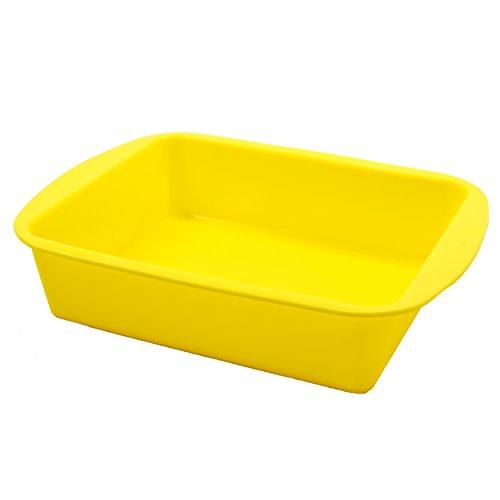 Marathon Housewares KW200015YE Premium Silicone Deep Dish Casserole Pans,