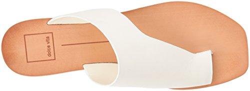 White Women's Dolce Hazle Vita Leather Sandal Slide Off FwUYO