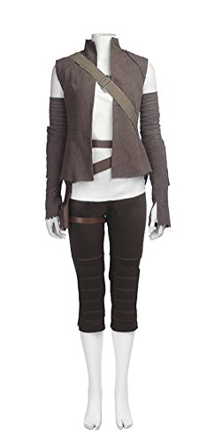Halloween Costume Adult Women, Deluxe Rey Cosplay Outfit Masquerade Accessory (M)