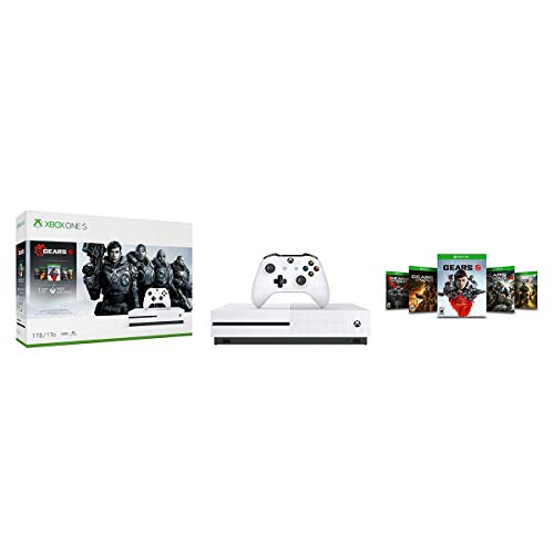 Xbox One S 1TB Console – Gears 5 Bundle (Renewed)