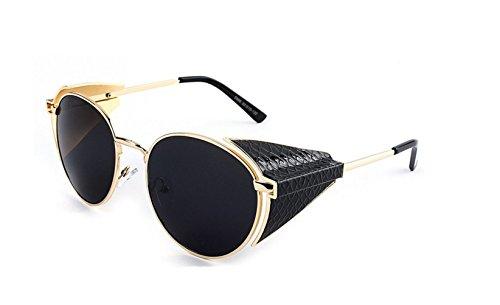 Arctic Star Steampunk Retro Round Frame Screws Spring Legs Inventor - Terminator Matsuda Sunglasses