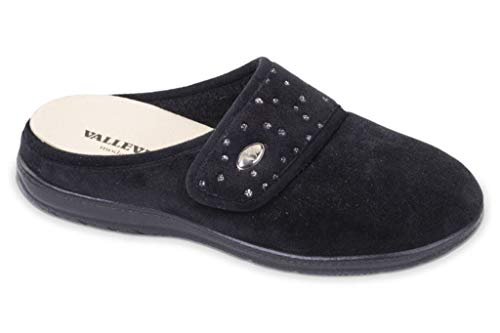 Valleverde Pantofole Nero Pantofole Donna 25101 Valleverde Donna TwTHr