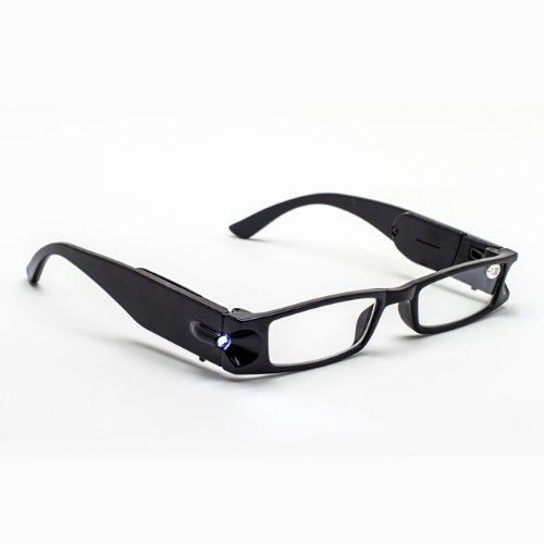Lighted Reading Glasses, Black, +1.75