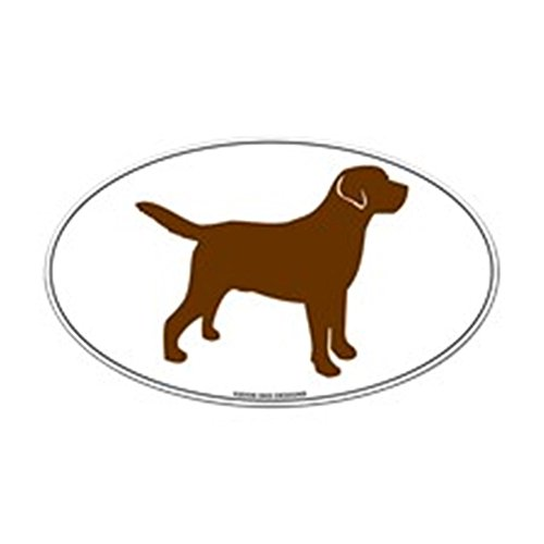 CafePress Chocolate Lab Outline Oval Sticker Oval Bumper Sticker, Euro Oval Car ()