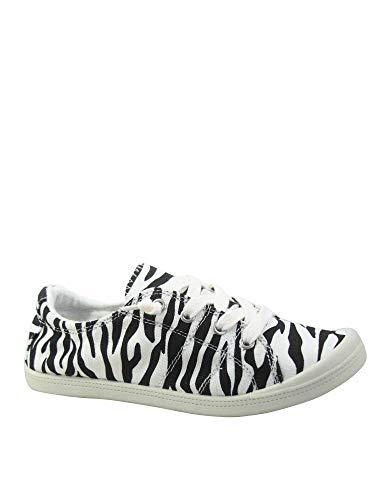 FZ-Comfort-01 Women's Cute Comfort Slip On Flat Heel Round Toe Sneaker Shoes (10 B(M) US, Zebra)