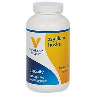 Psyllium Husks – Plantago Ovata Fiber Supplement That Supports Regularity Healthy Cholesterol, 840 mg per Serving Gluten Free (300 Capsules) by The Vitamin Shoppe