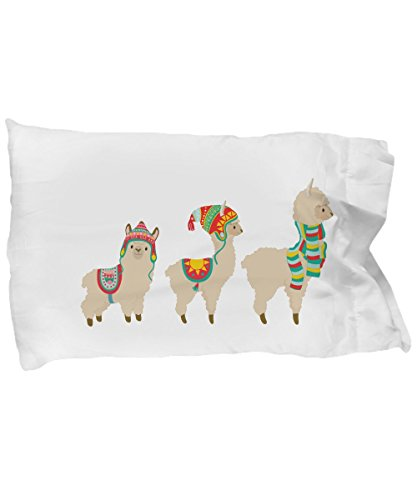 Curious to Visit Llama and Alpaca Pillowcase for Boys and Girls for Their Pillow by Curious to Visit