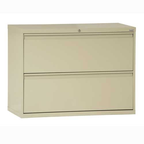 Sandusky Lee LF8F362-07 800 Series 2 Drawer Lateral File Cabinet, 19.25'' Depth x 28.375'' Height x 36'' Width, Putty by Sandusky