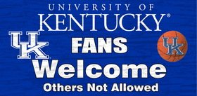 Kentucky Wildcats Wood Sign - Fans Welcome 12x6