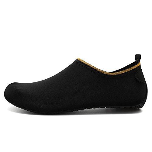 EQUICK Frauen Wasser Schuhe Quick-Dry Verschnaufpause Sport Haut Schuhe Barfuß Anti-Rutsch-Multifunktionssocken Yoga Übung Cj.black