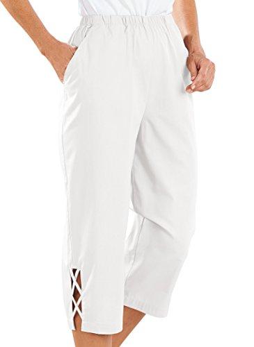 White Cotton Capris - 5
