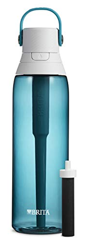 Brita 36387 Premium Water Filter Bottles, Sea Glass (Alkaline Brita Filter)