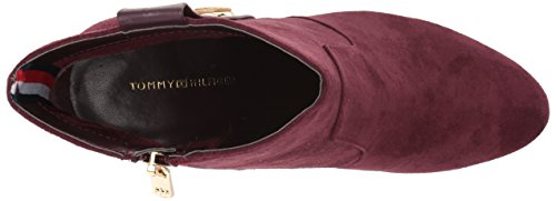 Hilfiger Tommy Donne Stivaletto Bordeaux Delle Dominio 6rFrq8nd