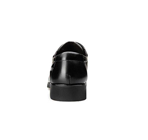 Morbido Casual Black Uomo Tela in Affari Nastro Sportivi Scarpe Stivali A Tondo Stagione Colore Pelle Sandali Punta 4qYqwrx1H