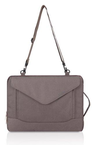 PLEMO Envelope Nylon Fabric 15-15.6 Inch Laptop / Notebook Computer / MacBook / MacBook Pro Shoulder Bag Case Pouch Sleeve, Grey