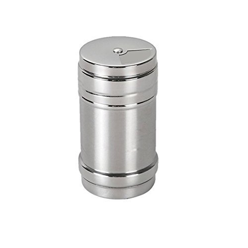 Verdental Stainless Steel Dredge Salt / Sugar / Spice / Pepper Shaker Seasoning Cans with Rotating Cover - 4 PCS