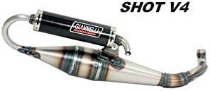 MARMITTA SHOT V4 VERSIONE APRILIA MOTORE PIAGGIO SR FACTORY IE DITECH//50