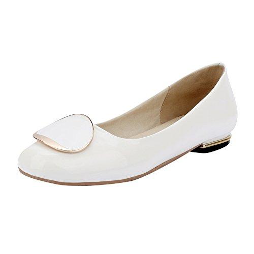 Latasa Mignonne Orteil À Bout Carré Sur Les Chaussures Blanches