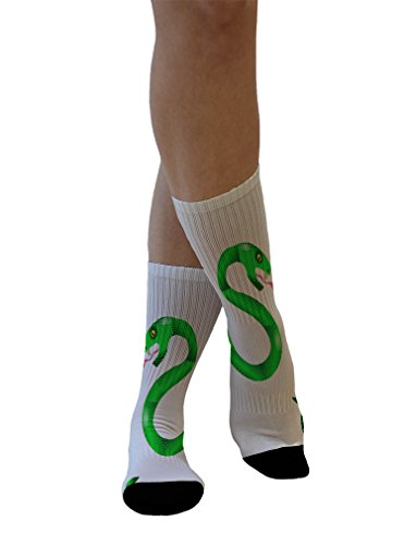 Snake Pattern Design (Design a Sock Green Snakes Seemles Pattern Novelty Men Women 7