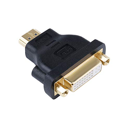 (DTECH DVI Female to HDMI Male Adapter Bi-Directional DVI 24+5 Port)
