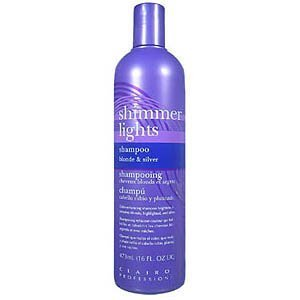 CLAIROL Professional Shimmer Lights Original Conditioning Shampoo for Gray, White, Highlighted and Light Blonde Tinted Hair 16oz/473ml by (Shimmer Lights Conditioning Shampoo)