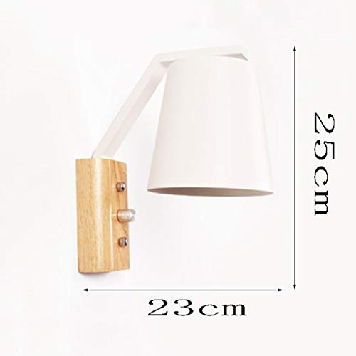 FJZ Wall lamp JIAQI High-end Fashion Wrought Iron Wall Lamp Modern Minimalist Living Room Dining Room Bedroom Study Children's Room Solid Wood Wall Lamp Adjustable Wall Light (Color : E) Craft Wrought Iron Square Knob