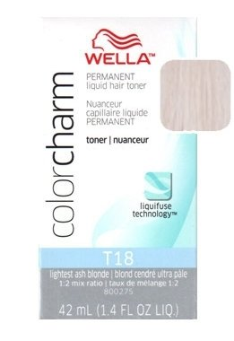 Wella Color Charm Liquid Toner #T18 Lightest Ash Blonde (41ml) (2 Pack)
