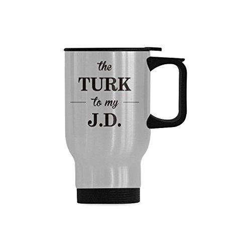 旅行コーヒーマグThe Turk to My JD水コーヒーカップステンレススチールティーカップ14オンス B074V4JB8B