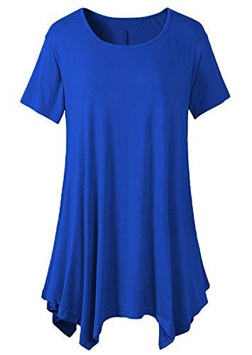 Shirt Moda Monocromo Tshirt BoBo Estivi Casual Accogliente Irregular Shirt Donna Modern Giovane Magliette Corta Top Eleganti Shirt Rotondo Moda Lily T Collo Stile Manica Baggy paxw5