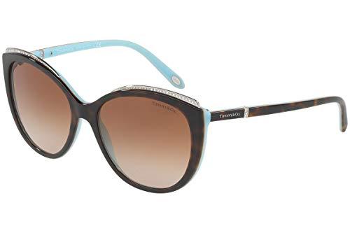 Tiffany & Co. TF4134B - 81343B Sunglasses HAVANA/BLUE w/ BROWN GRADIENT ()