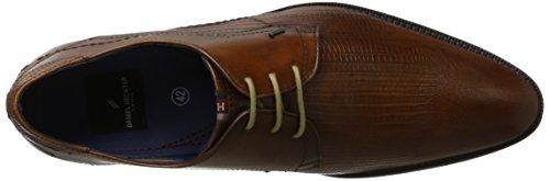 Daniel Hechter 812301011100, Zapatos de Cordones Derby para Hombre Marrón (Cognac)