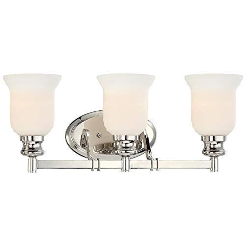 Minka Lavery Wall Light Fixtures 3293-613 Audrey's Point Wall Bath Vanity Lighting, 3-Light 300 Watts, Polished ()