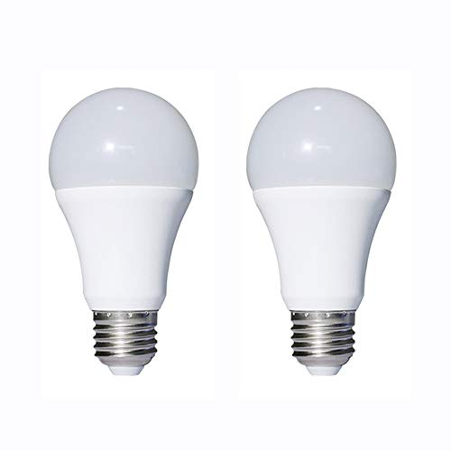 Light Bulbs - Warm White 7W E26 Standard Base 60W Equivalent - DC/AC Bulb for RV, Solar Panel Project, Boat, Garden Landscape, Off-Grid Lighting (2 Pack) ()