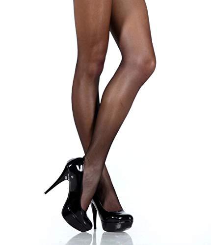 (Pierre Cardin Transparent Tights Silken Semi Opaque Sheers Thin Pantyhose City Line Nice 20 Den Medium Black)