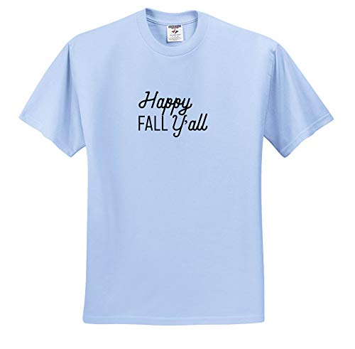 3dRose Tory Anne Collections Quotes - Happy Fall Yall - T-Shirts - Light Blue Infant Lap-Shoulder Tee (24M) (ts_294293_77)