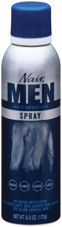Nair Hair Remover Mens Spray 6 Ounce (177ml) (3 Pack)