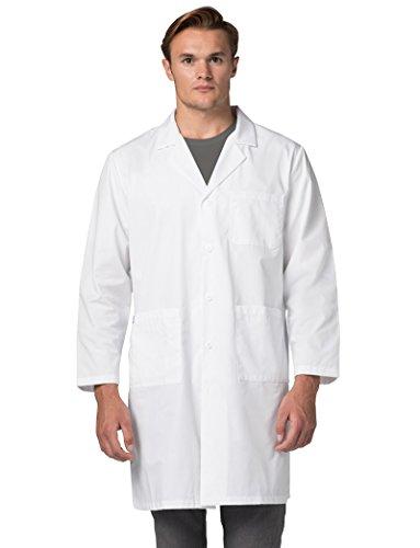 "Adar Universal 39"" Unisex Midriff Lab Coat"